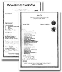オリーブのオーガニック認証証明書